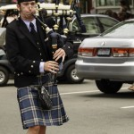 Scottish bagpipes were played