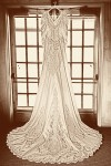 Vintage treatment of the dress