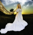 The sunsets behind our bride