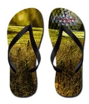Golf themed flip-flops