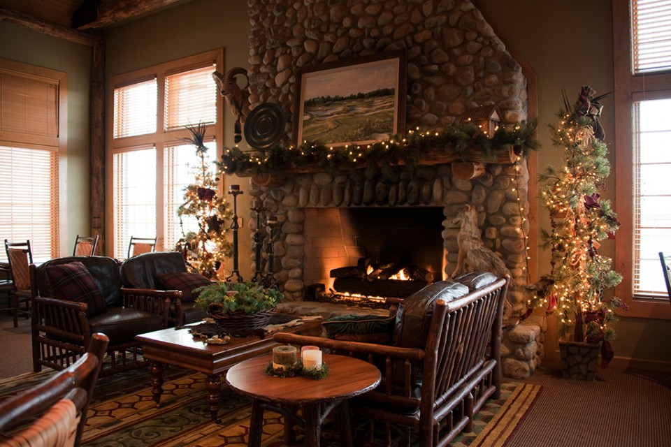 Fireplace in Clubhouse
