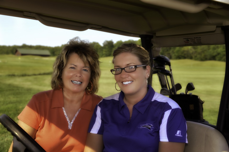 Ladies Night- driving in the golf cart