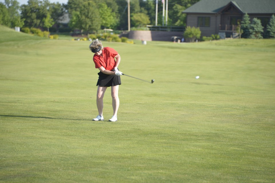 Ladies night- playing golf on the course