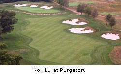 #11 golf hole at Purgatory Golf